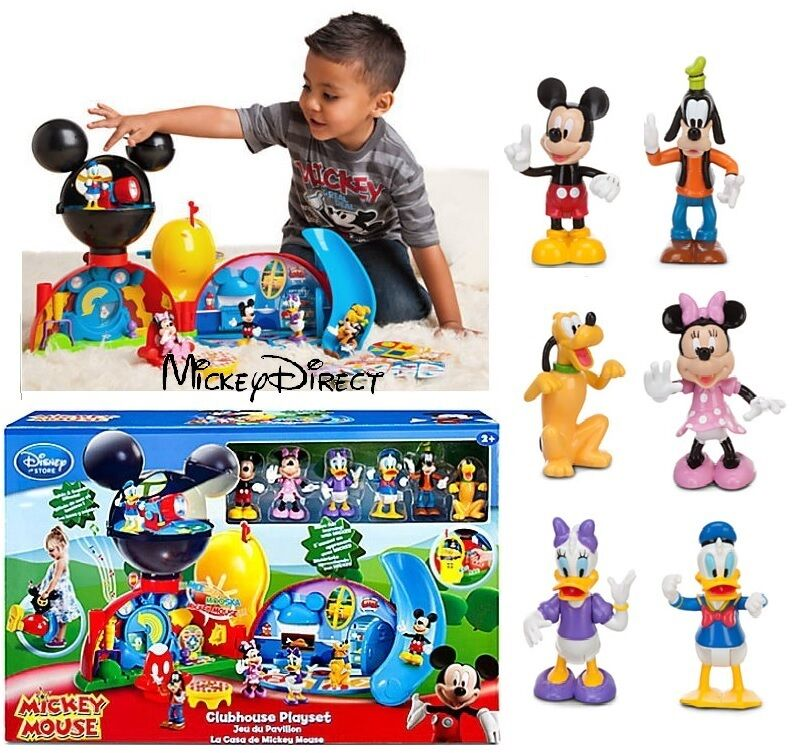 Disney store mickey mouse clubhouse deluxe play set w figure doll lights sounds ebay - Disney store mickey mouse ...