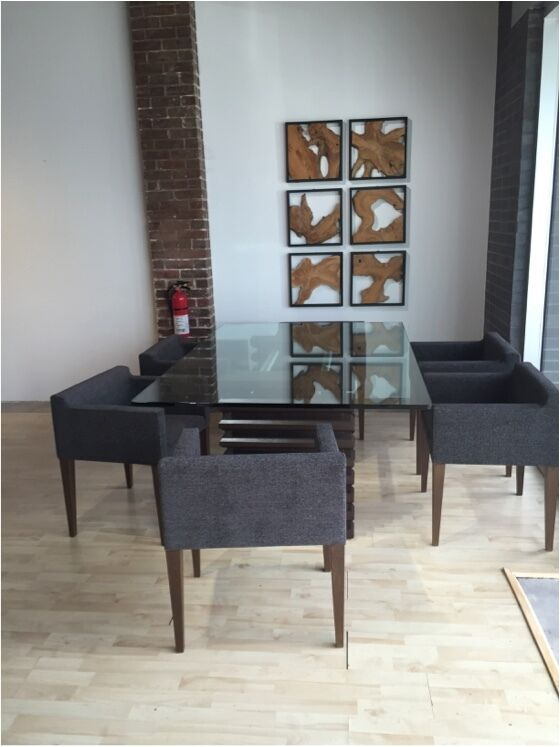 Modern Dining Table And 8 Italy Fabric Chairs Ebay