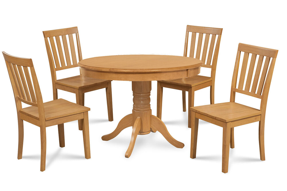 Round Kitchen Table Oak With Chairs