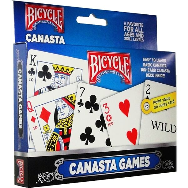 Canasta 2 Deck Set Bicycle Playing Cards Poker Size Card