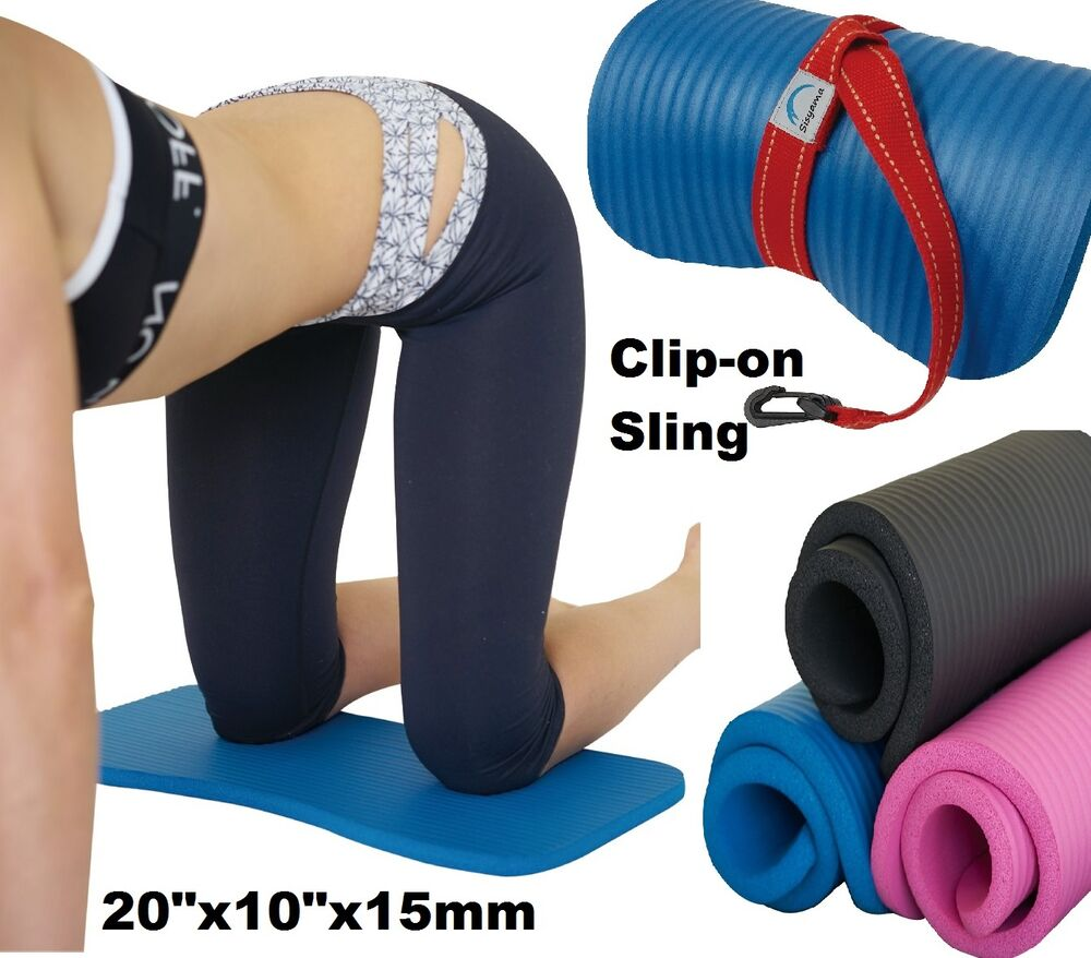 KNEE PAD CUSHION Yoga Exercise Workout FREE Sling 15mm