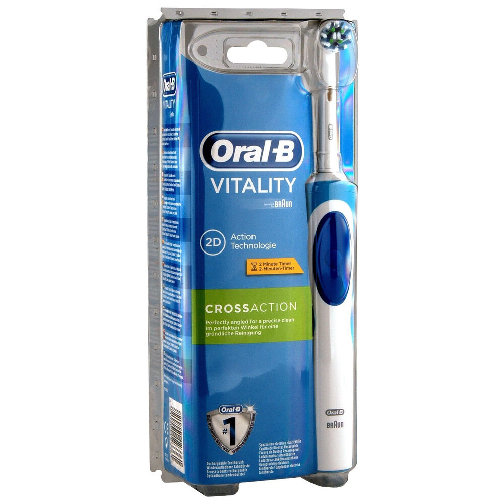 braun oral b vitality organic cls cross action rotating electric toothbrush ebay. Black Bedroom Furniture Sets. Home Design Ideas
