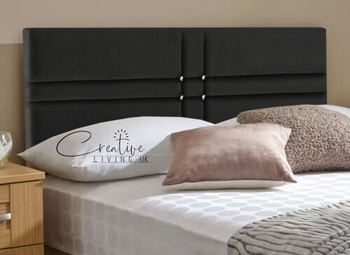 Perth quality bed designer headboard single double crushed for Good quality single beds