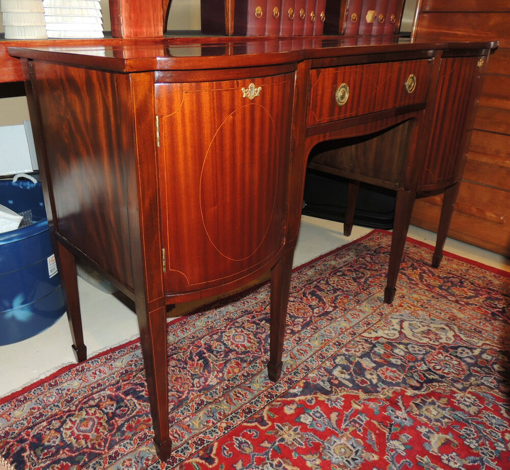 Dining Room Sideboards And Buffets: Hepplewhite-style Mahogany Small English Dining Room