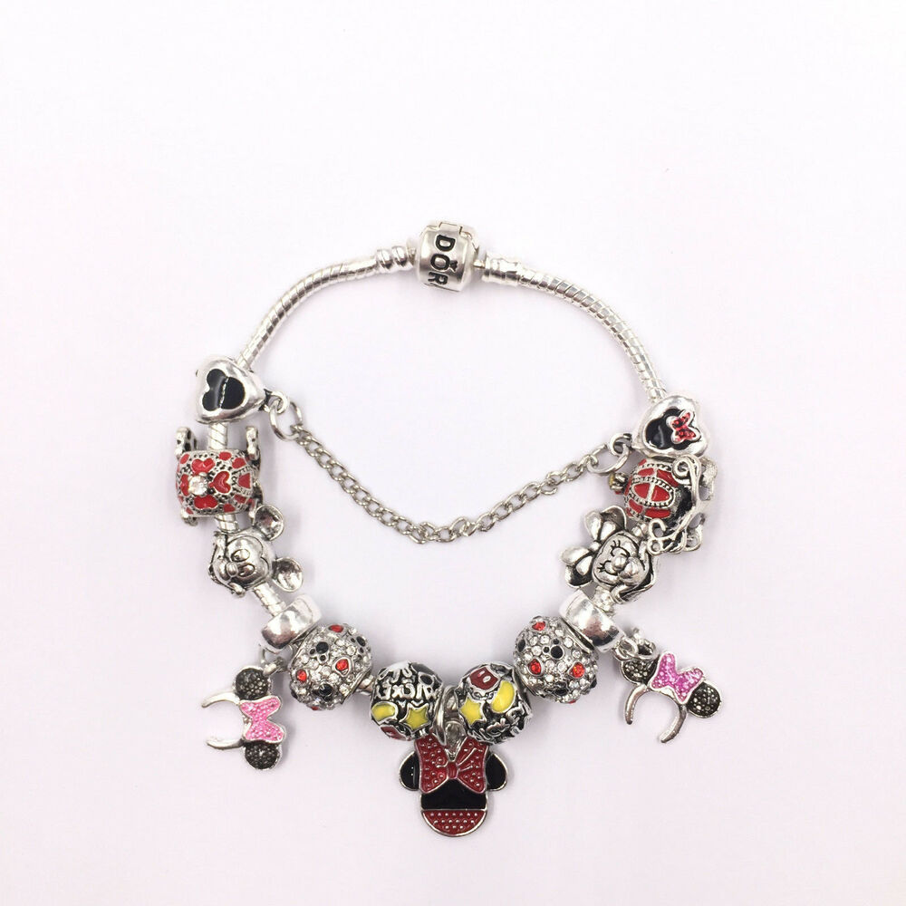 disney mickey and minnie mouse pandora charm bracelet