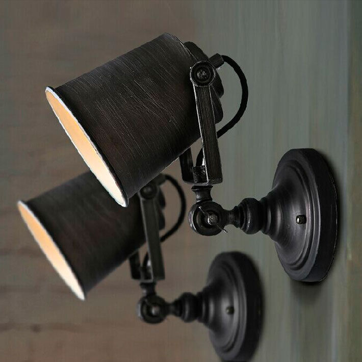 Black Rustic Wall Lights : Retro Industrial Loft Rustic Wall Sconce Wall Lights Porch Lamp 1101HC_Black eBay