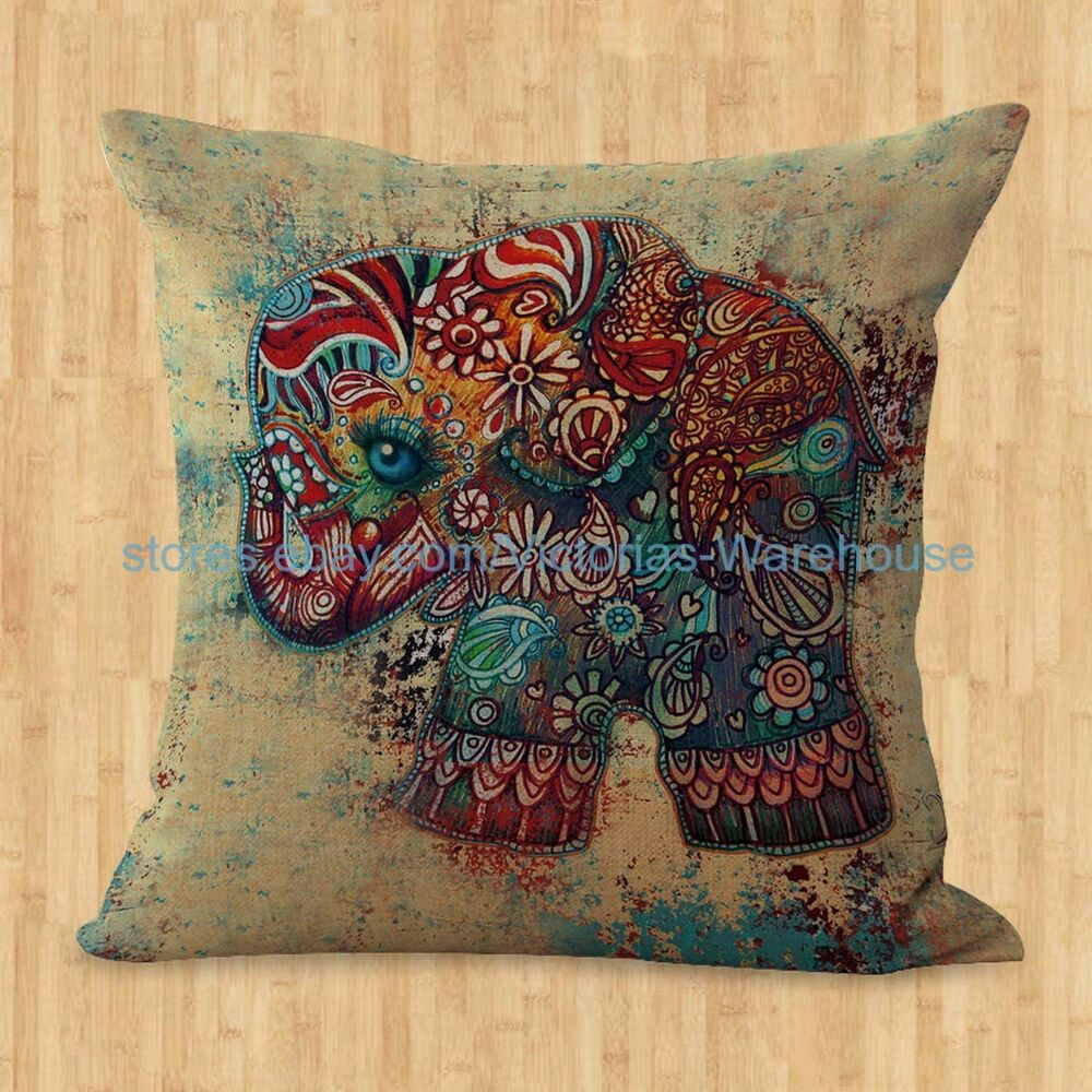 Animal Pillows Bulk : US SELLER- lucky elephant animal cushion cover throw pillow covers wholesale eBay