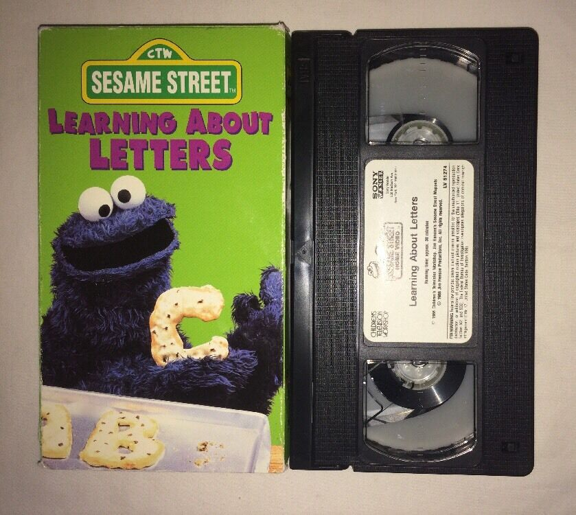 sesame street learning about letters sesame learning about letters vhs 1996 cookie 24809 | s l1000