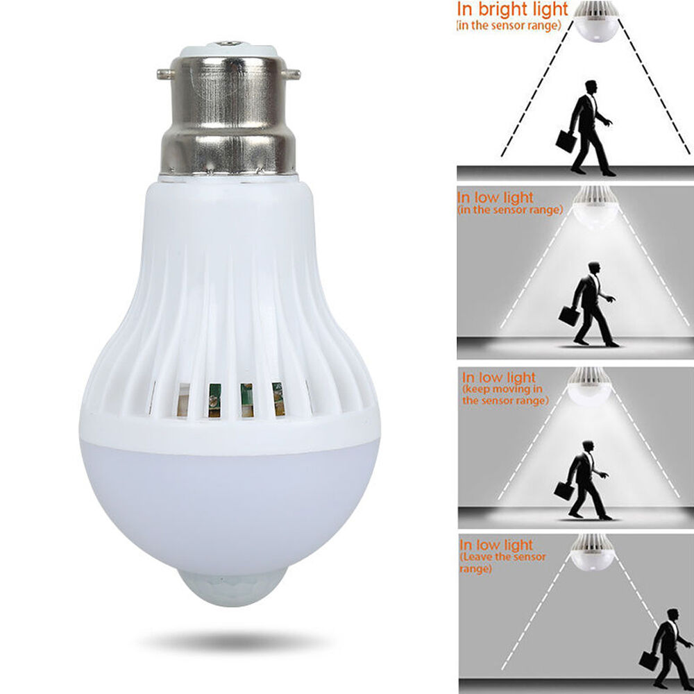 Motion Sensor Auto Bulb Infrared Energy Saving Light Lamp