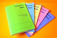 5 x HANDWRITING school exercise/training/practice books A5 40 dual-lined pages