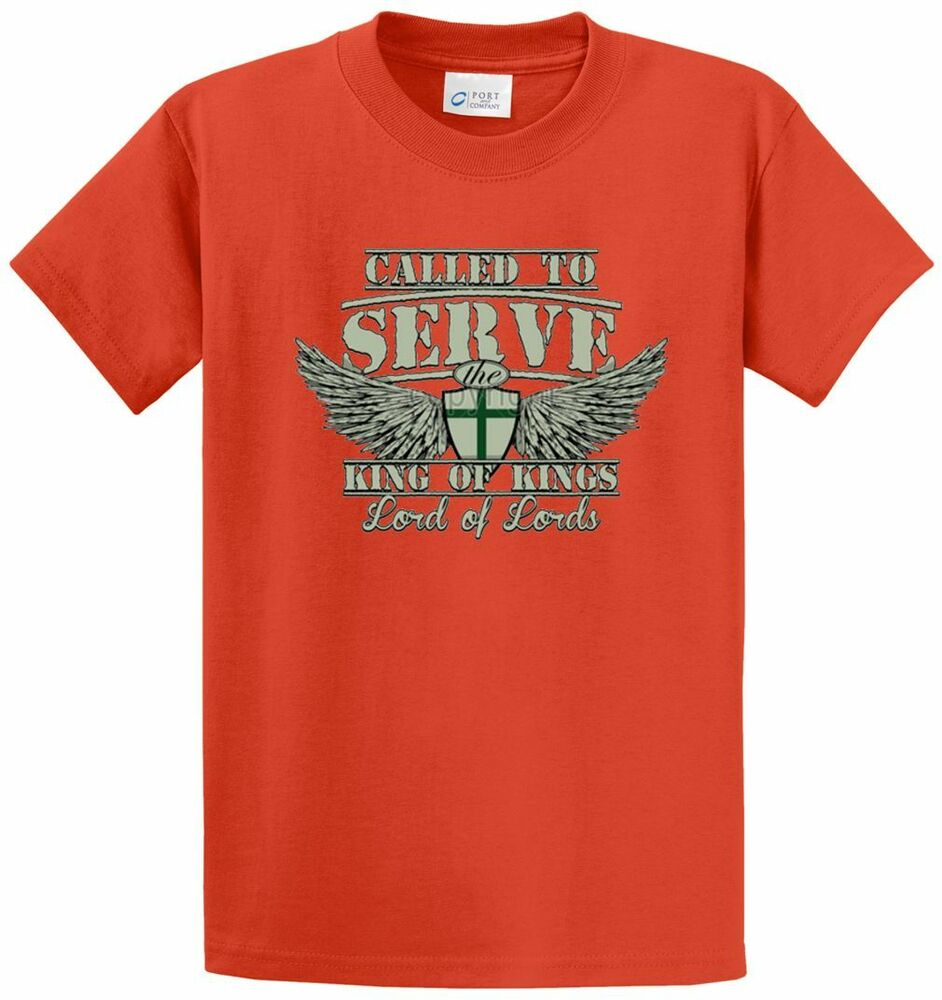 Called To Serve The Lord Printed Tee Shirt In Regular And