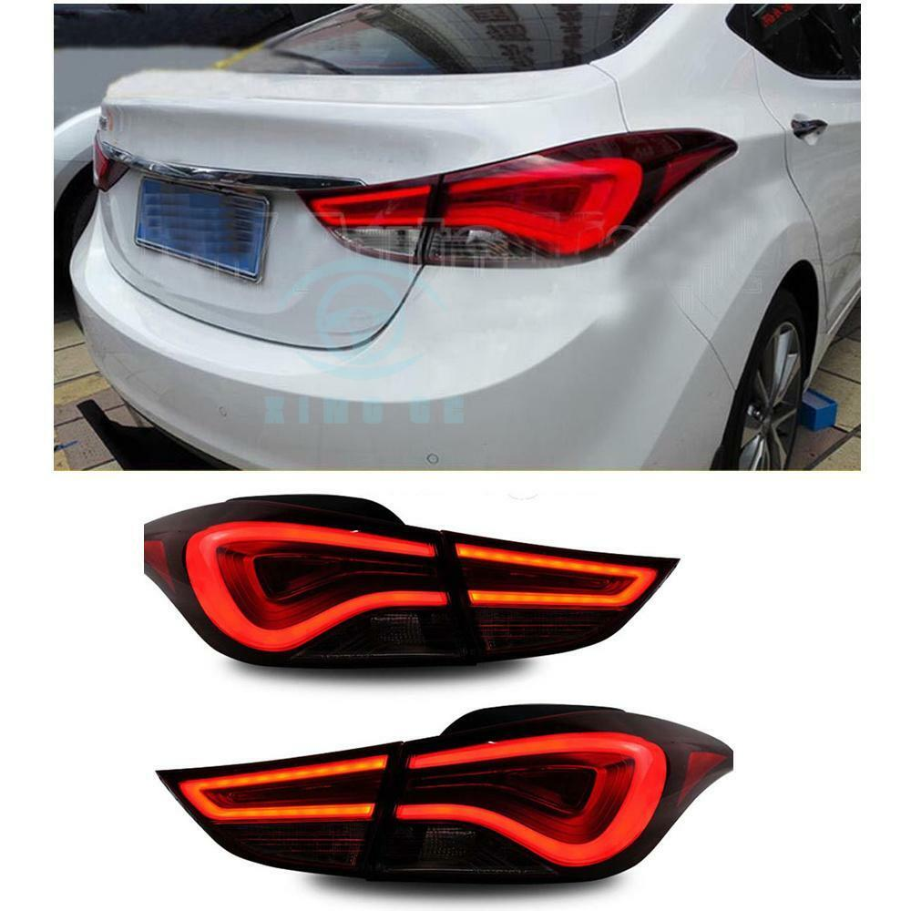 Red Window Tint >> LED Taillights For Hyundai Elantra 2011-2013 Rear Tail ...
