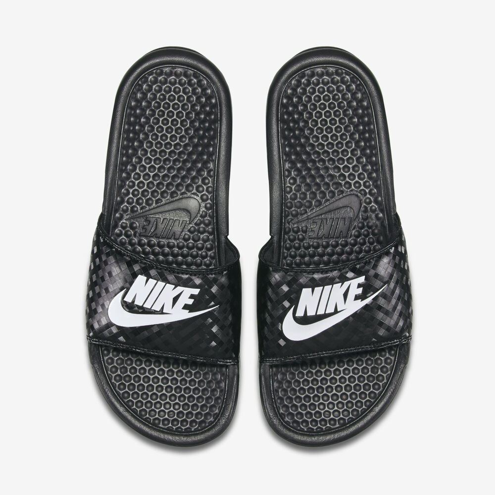 Wmns Nike Benassi JDI Slide Sandals Sz 5-12 Black/White ...
