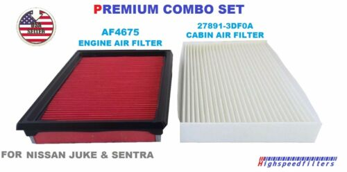 AF4675 C28183 COMBO Engine & Cabin Air Filter Set for NISSAN Sentra & Juke