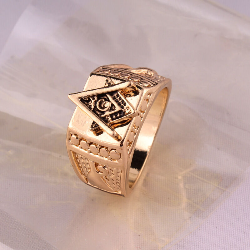 Vintage men fashion punk band freemasons stainless steel Vintage style fashion rings