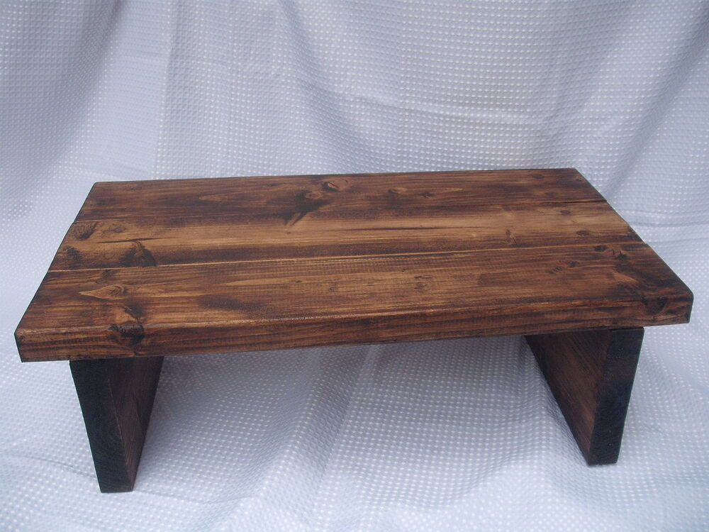 Rustic Coffee Table, Plank, Chunky - Handmade,Medium Oak, FREE ...