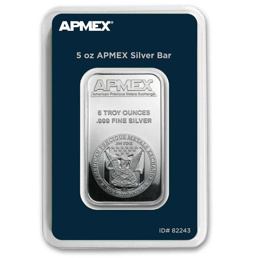 5 Oz Silver Bar Apmex Tep Packaging Ebay