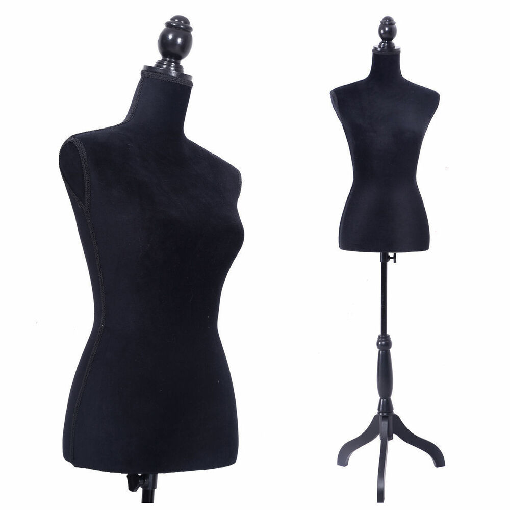 Wedding Gown Display: Female Mannequin Torso Clothing Display W/ Black Tripod