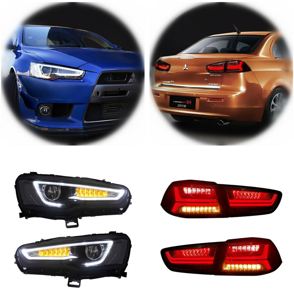 Led Audi Look Headlights Amp Tail Lights For Mitsubishi