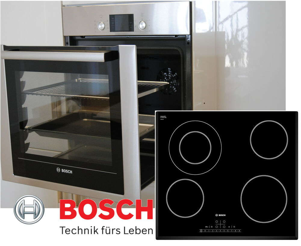 bosch herdset autark backofen ausfahrbar backwagen glaskeramik kochfeld 60cm ebay. Black Bedroom Furniture Sets. Home Design Ideas
