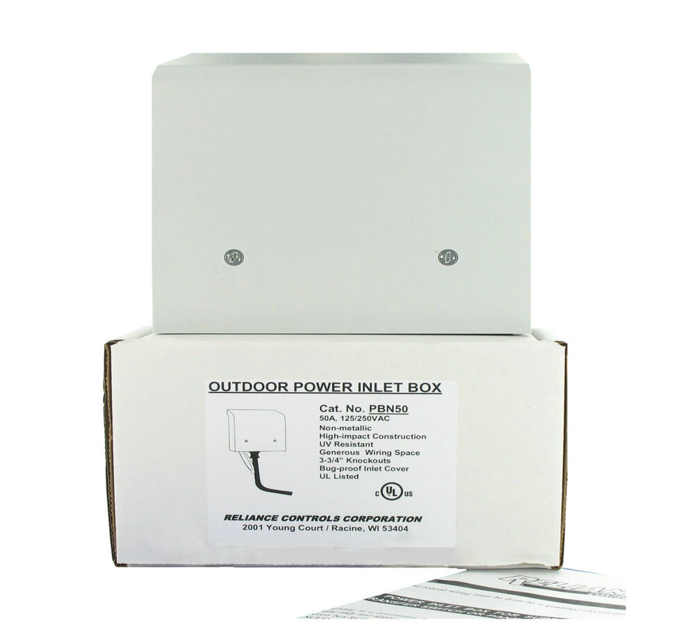 Fantastic Reliance 50A Power Inlet Box For Generator Cords Ul Pbn50 Non Wiring 101 Akebretraxxcnl