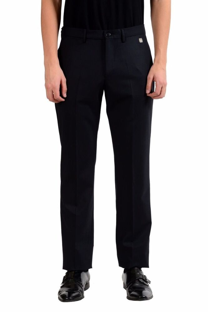 versace collection men 39 s wool black dress pants size 30 32 34 36 38 ebay. Black Bedroom Furniture Sets. Home Design Ideas