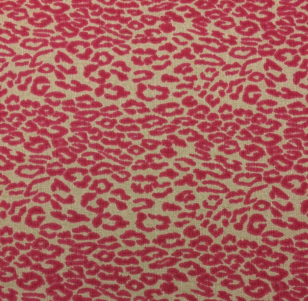 Lacefield designs cheetah hibiscus pink flax animal print for Designer animal print fabric