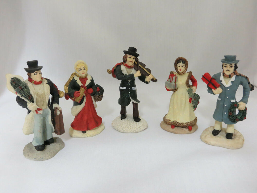 Lot 5 christmas village people holiday town accessories 3 for Christmas accessories