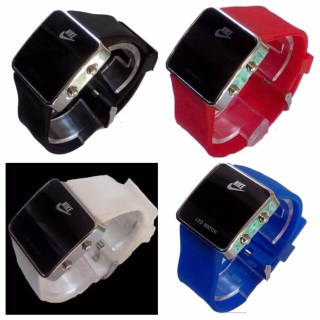 Wybitny Nike LED Watch SQUARE Face SILICONE BAND New W/out Tags No Box LO97