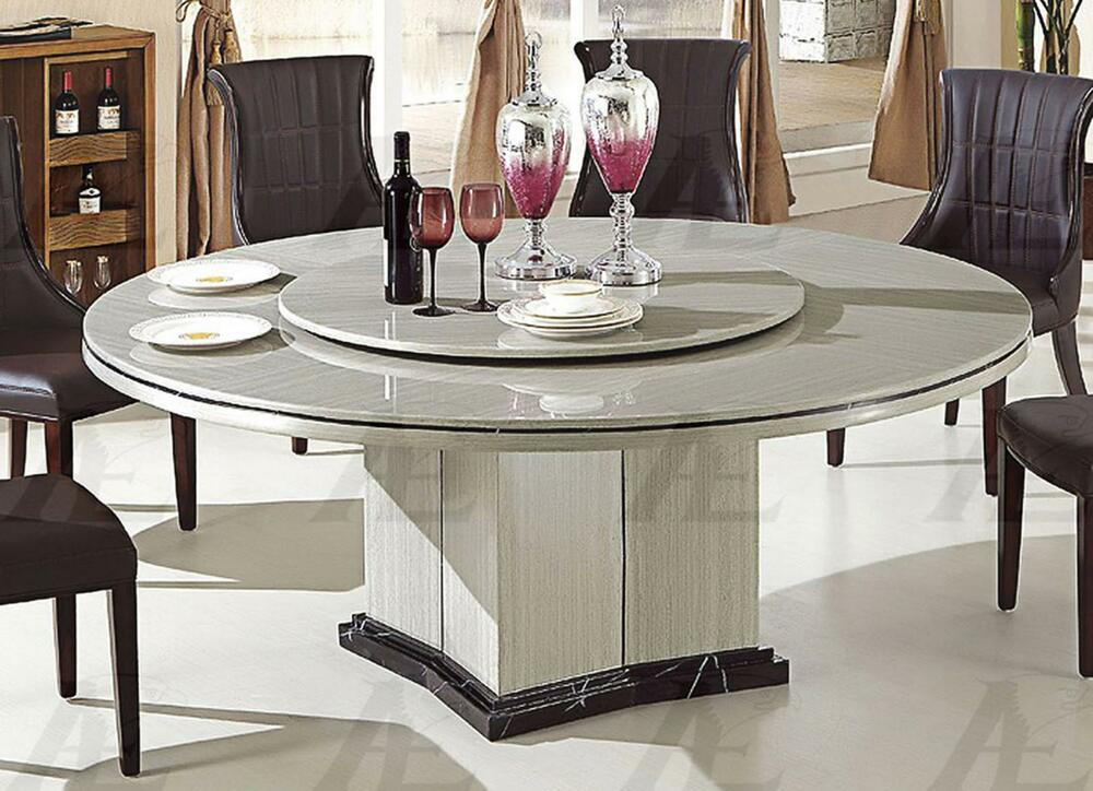 American Eagle DT-H61 Gray Marble Top Round Dining Table
