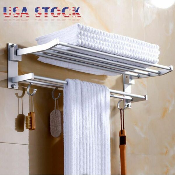 2-Tier Bathroom Shower Shelf Corner Toilet Organizer Bath Caddy Rack Storage 24