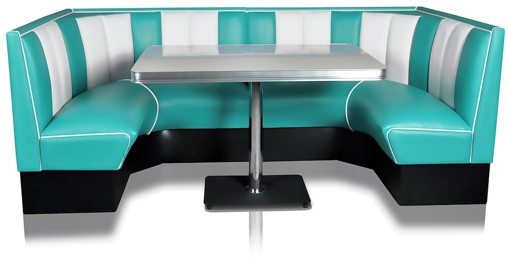 hw 120 120 american dinerbank sitzbank diner b nke m bel 50 s retro usa style ebay. Black Bedroom Furniture Sets. Home Design Ideas