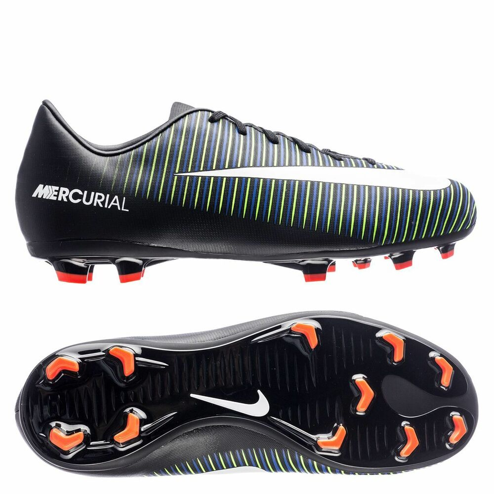 Details about Nike Mercurial Vapor XI FG 2017 Soccer Shoes Black   Green    Royal Kids Youth 14cf6ef133cd9