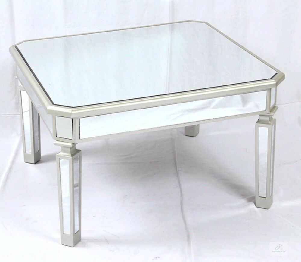 Silver Glass Coffee Table Uk: Venetian Mirrored Coffee Table Large Glass Living Room