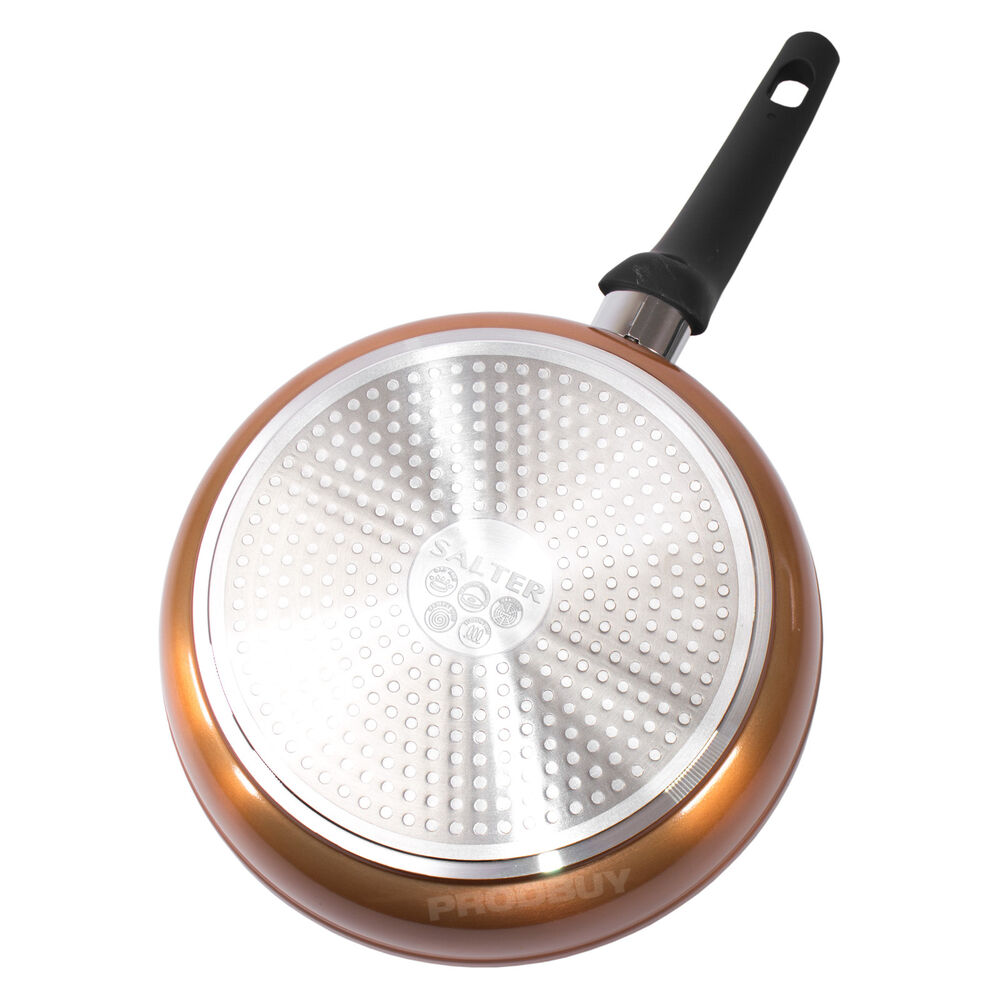 24cm Copper Coloured Non Stick Frying Pan Round Induction