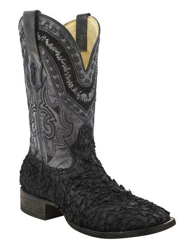 Corral Men S Gnarly Sea Bass Leather Square Toe Cowboy