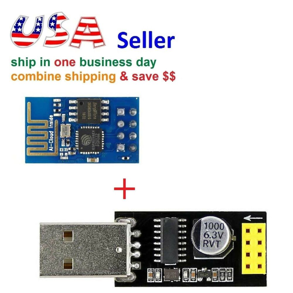 ESP8266 Serial WiFi Wireless Transceiver Module + USB to ...