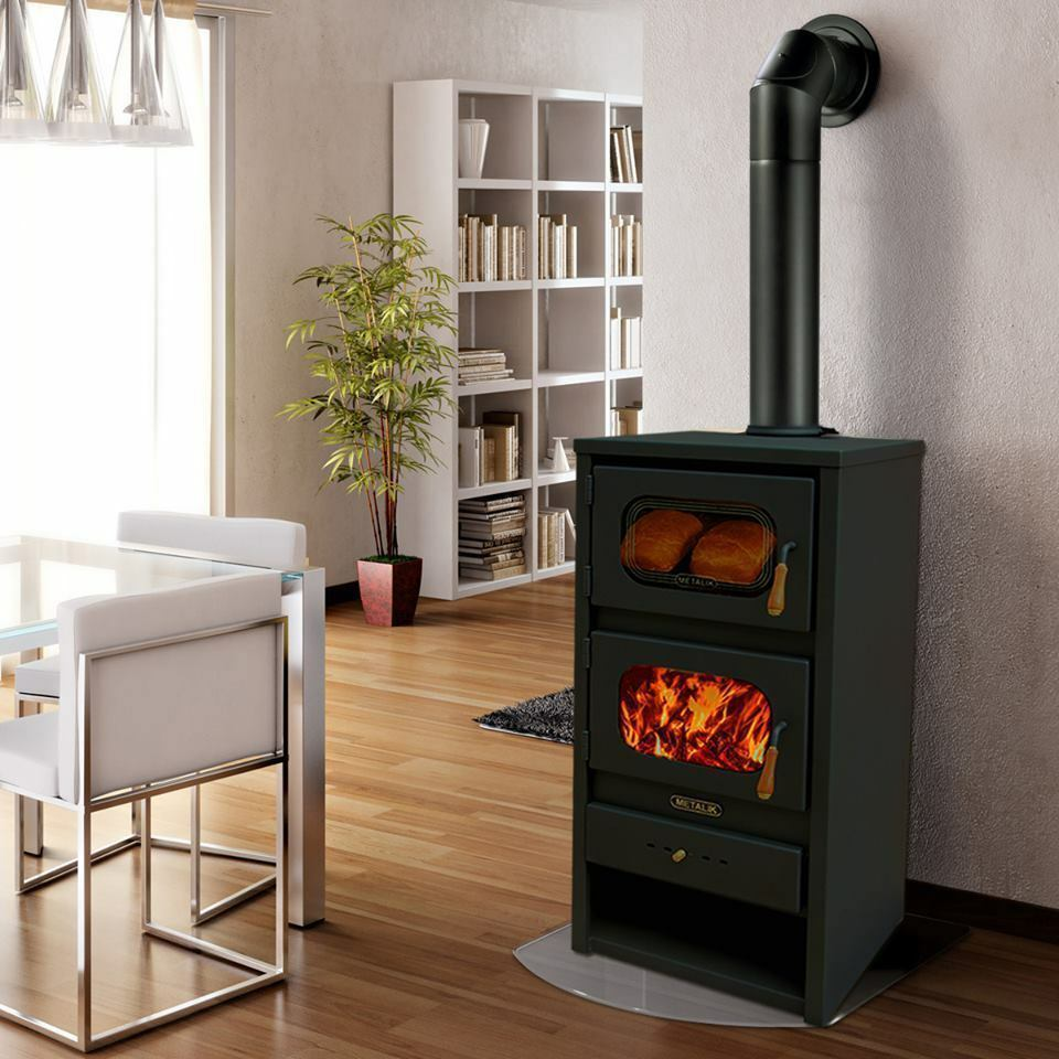 Wood Burning Stove With Oven Log Burner Cooking Fireplace