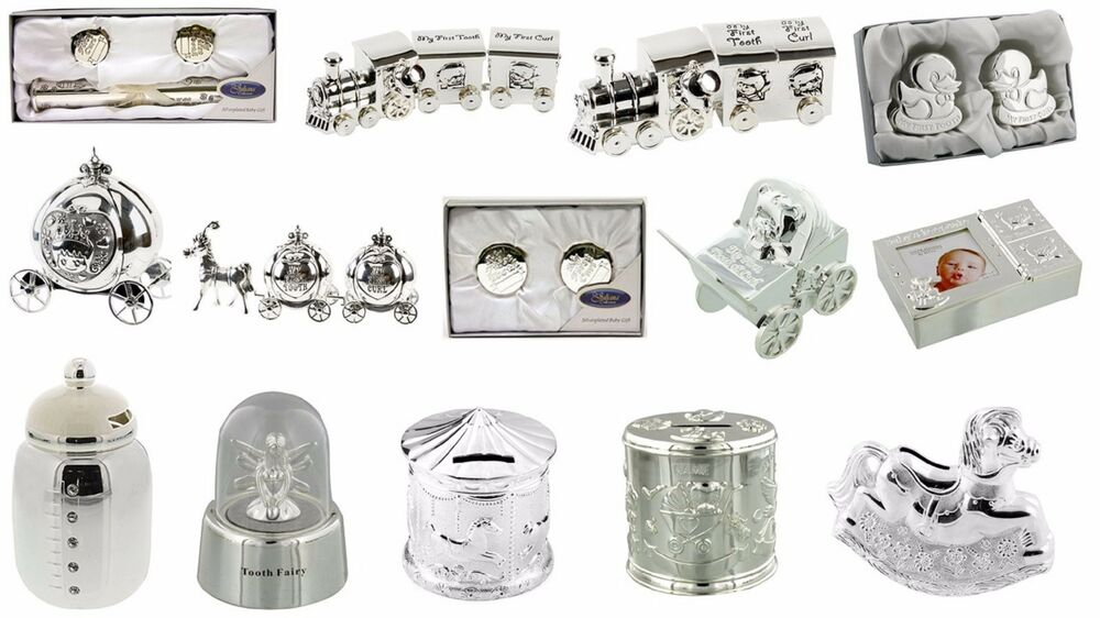 Silver Plated Baby Gifts Australia : Silverplated baby gift shower christening