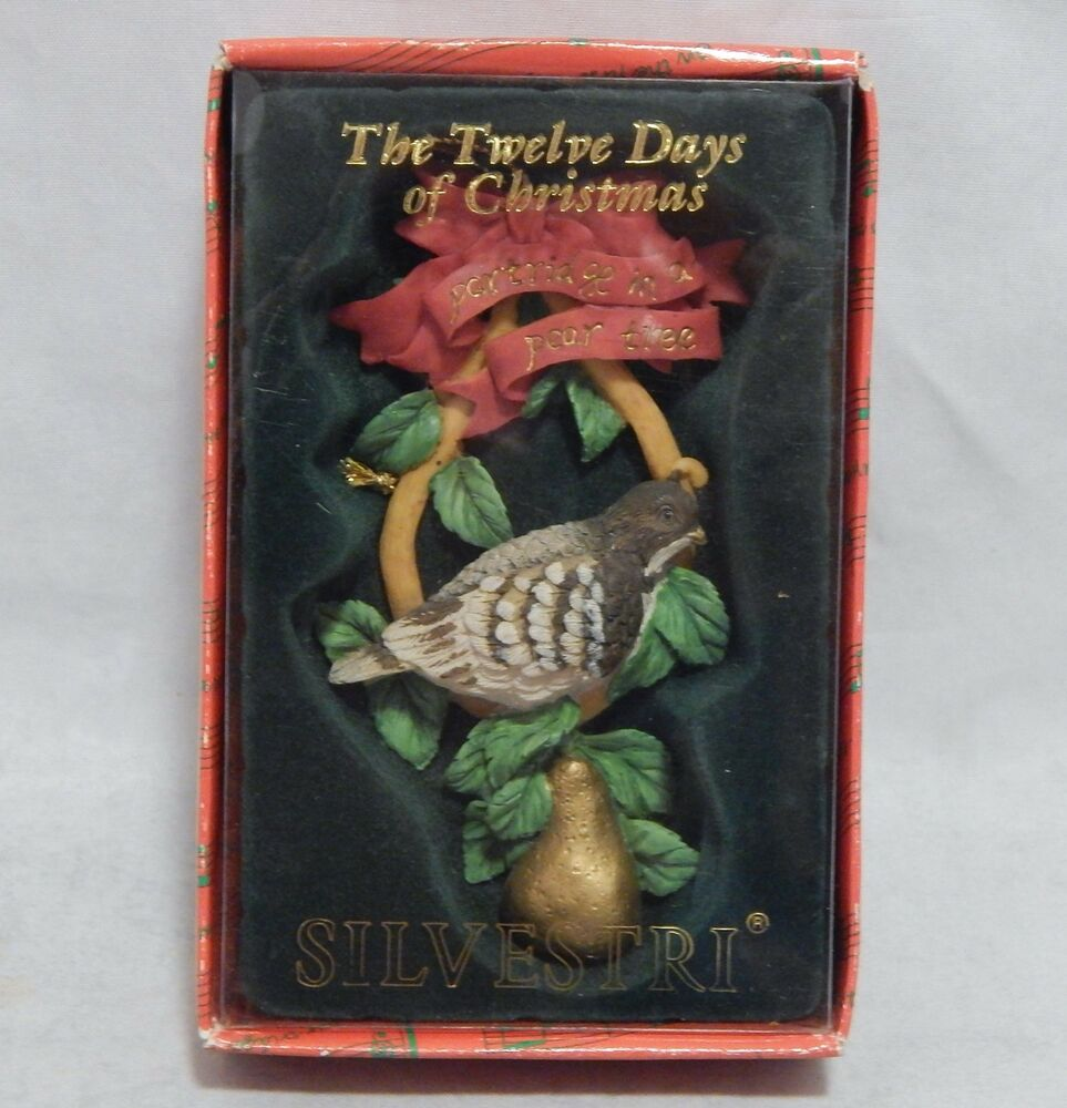 12 Days Of Instagram Christmas Decors: Silvestri Ornament Twelve Days Of Christmas Partridge In A