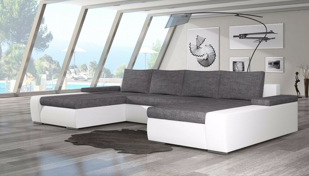 wohnlandschaft couch sofa marion u form polstergarnitur couchgarnitur top ebay. Black Bedroom Furniture Sets. Home Design Ideas