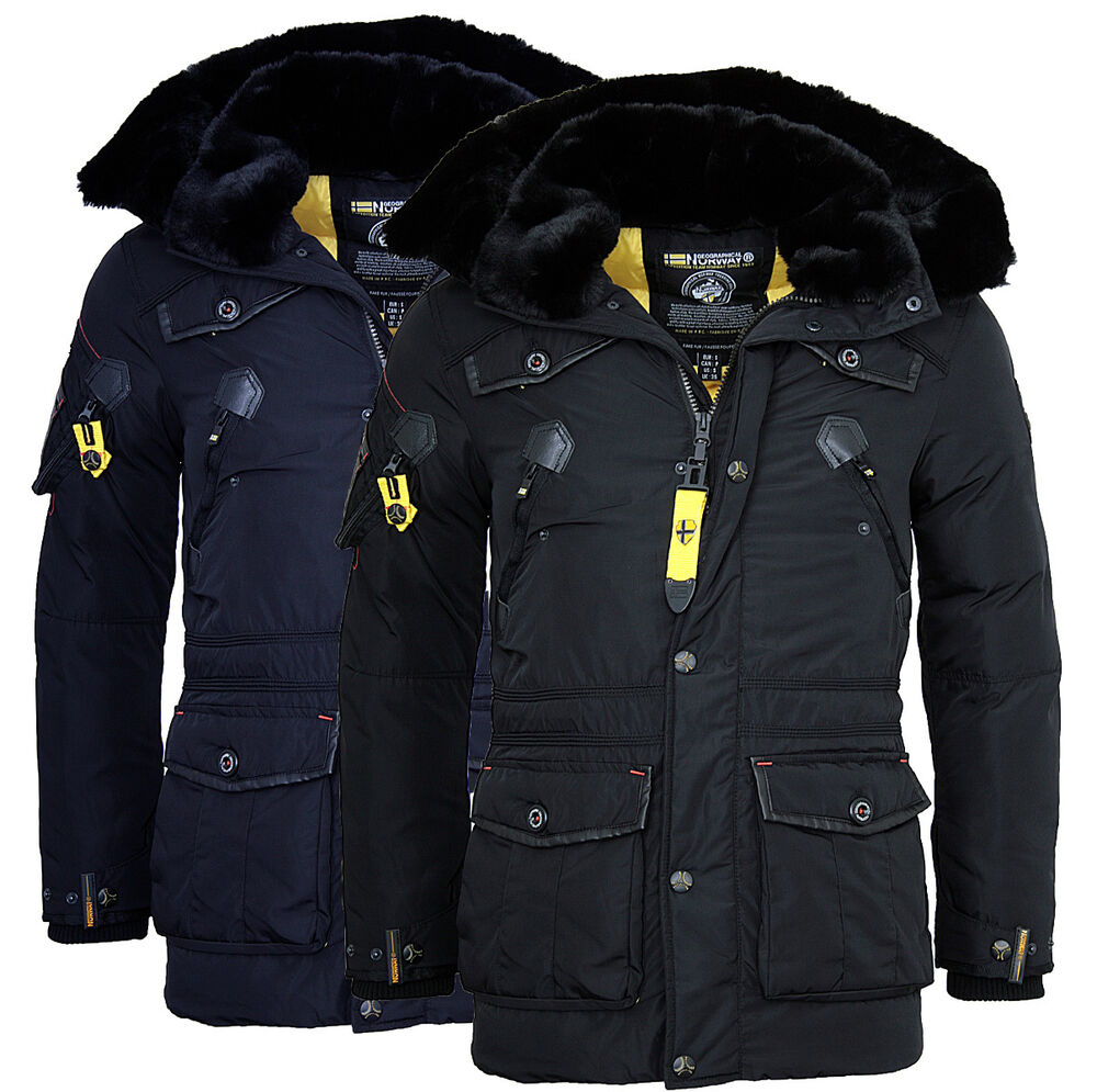 geographical norway warme herren winter jacke parka anorak outdoor mantel apple ebay. Black Bedroom Furniture Sets. Home Design Ideas
