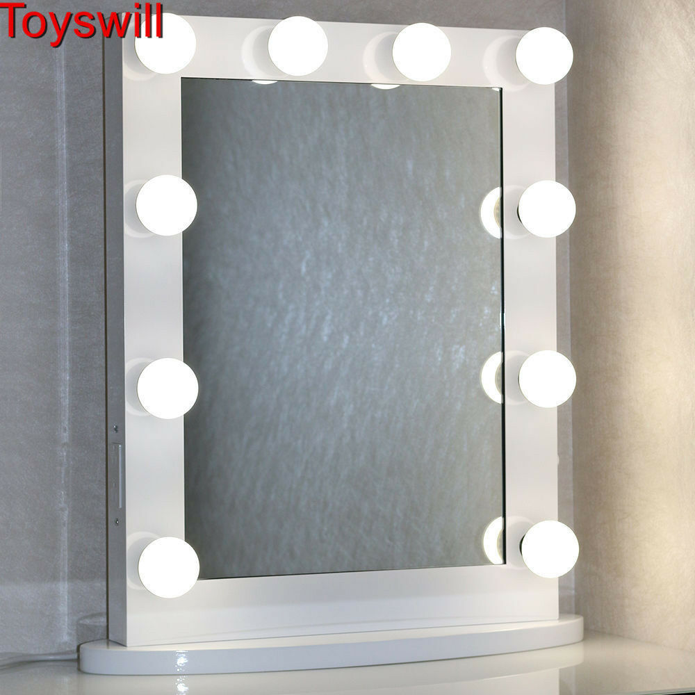 Vanity Lights With Dimmer : White Hollywood Makeup Vanity Stage Beauty Mirror with LED Bulb Light Dimmer eBay