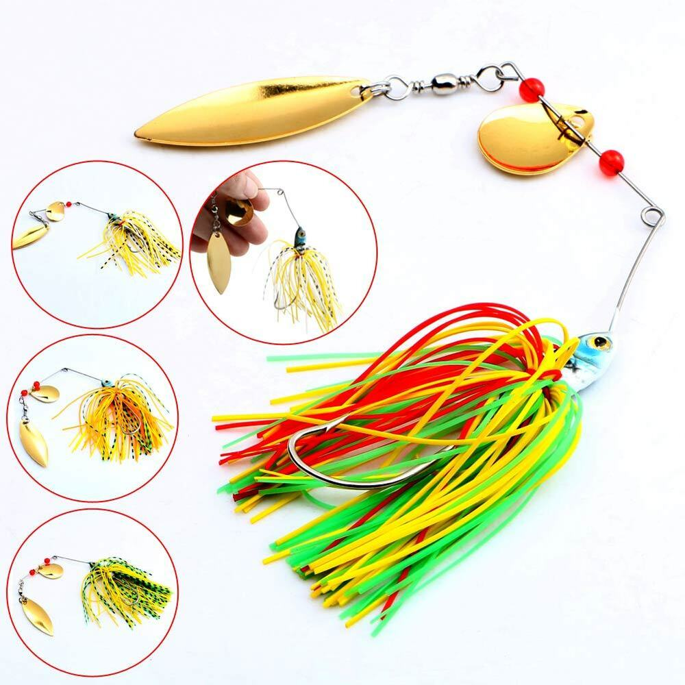 New hot 4pcs lot hard lure spinner bait for bass fishing for Fishing lure selector