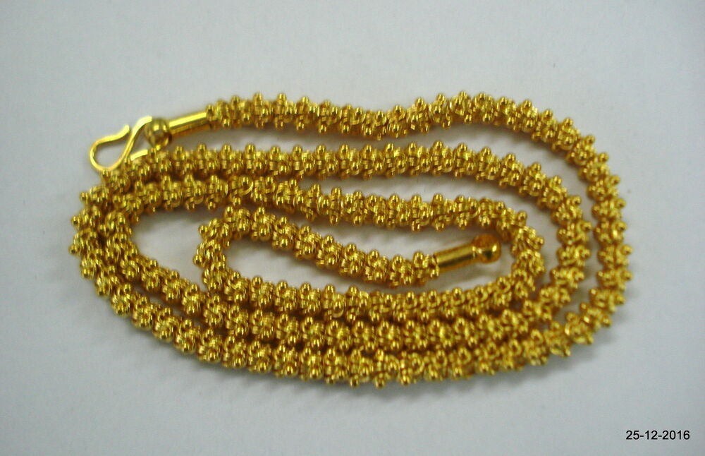 Traditional design 22kt gold chain necklace handmade gold ...