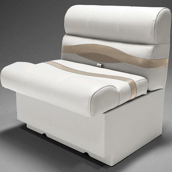 "Houseboat Furniture And Accessories: Premium 28"" Pontoon Boat Seats In Ivory, Tan And Beige"