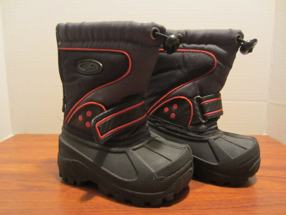 Toddler Little Boys Size 8 Winter Snow Boots New, Back