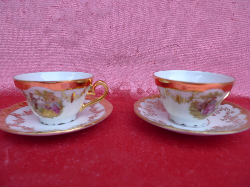 2 Beautiful Antique Collection Cups Moccha Cup With