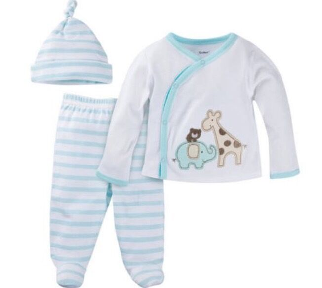 Gerber Baby Boy Take Me Home 3 Piece Layette Gift Set Baby