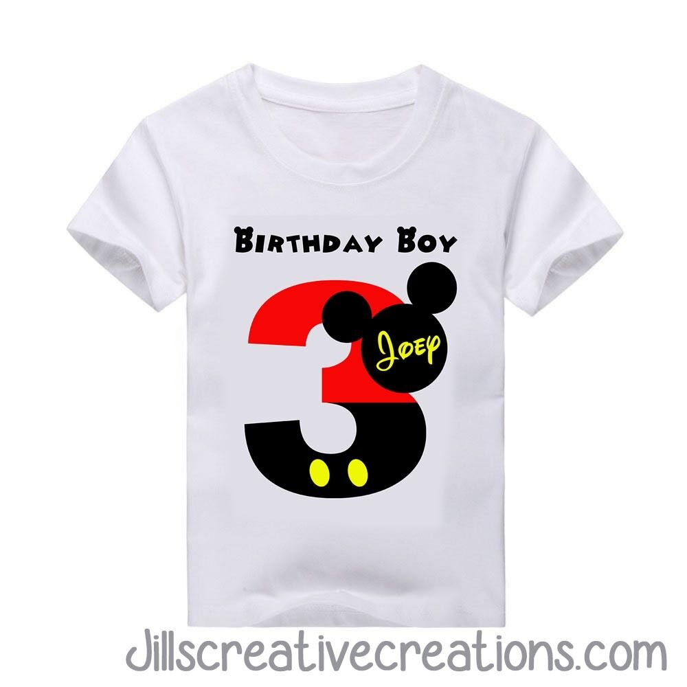 Details About Mickey Mouse T Shirt Birthday